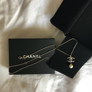 Chanel Pearl Two Length Necklace